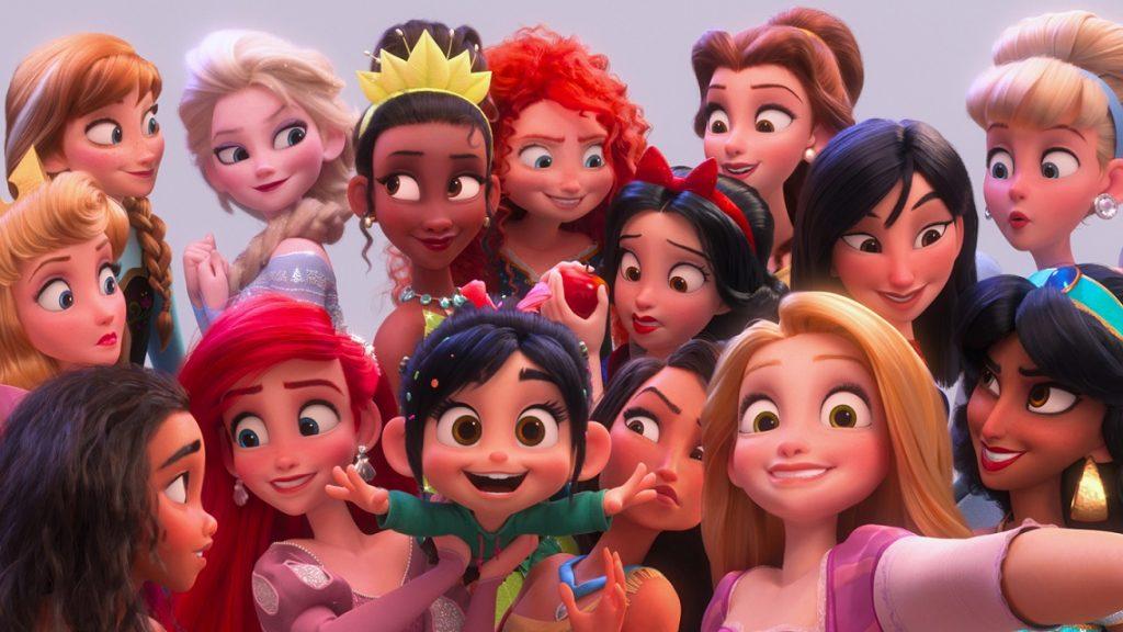 Disney Prinzessinnen in Chaos im Netz