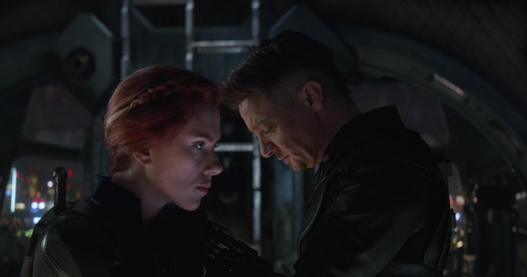 Black Widow und Hawkeye in Avengers: Endgame