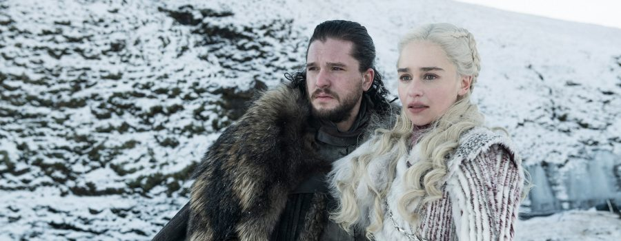 Emilia Clarke und Kit Harington in Game of Thrones